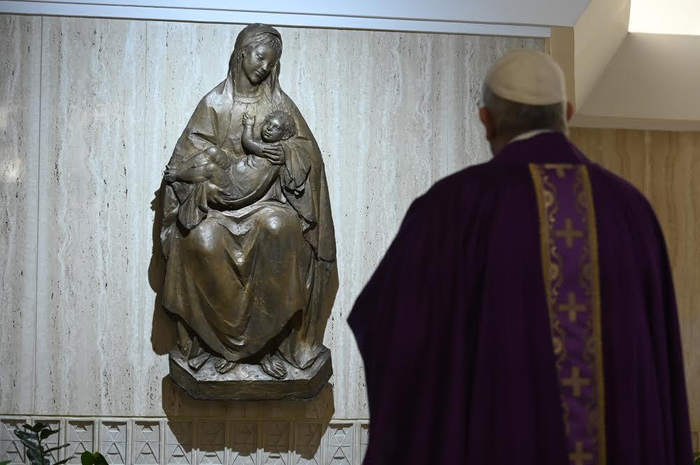 Sainte-Marthe, 3 avril 2020 © Vatican Media
