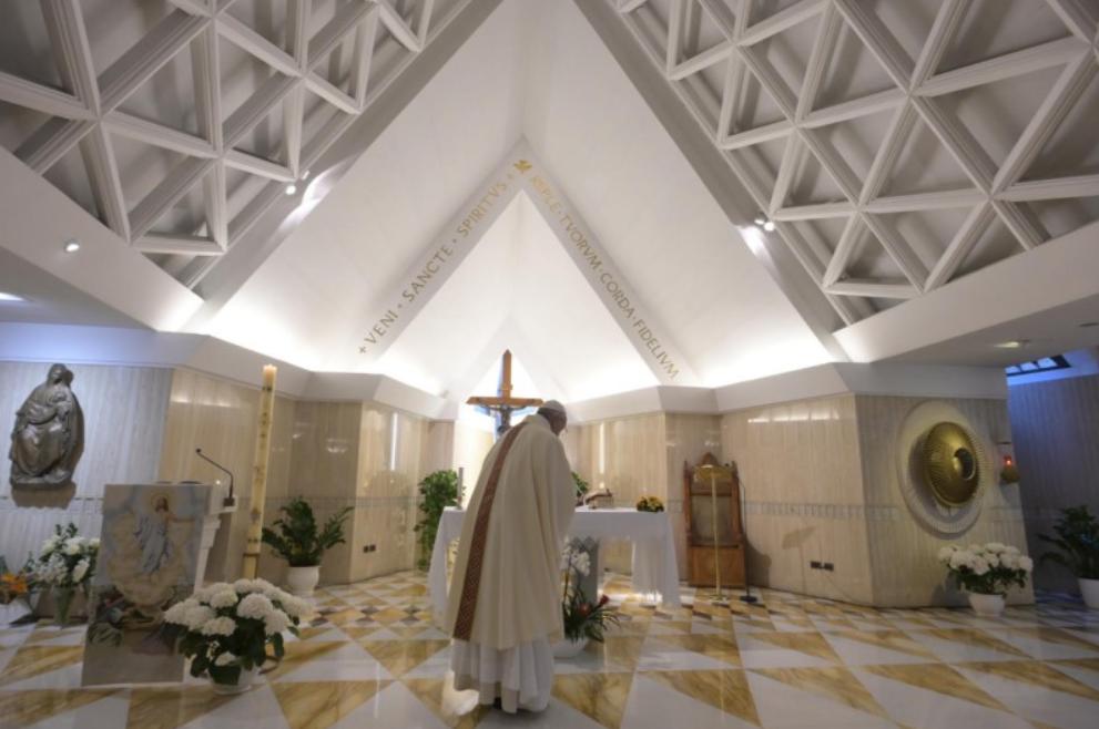 Messe à Sainte-Marthe, 26 avril 2020 © Vatican Media