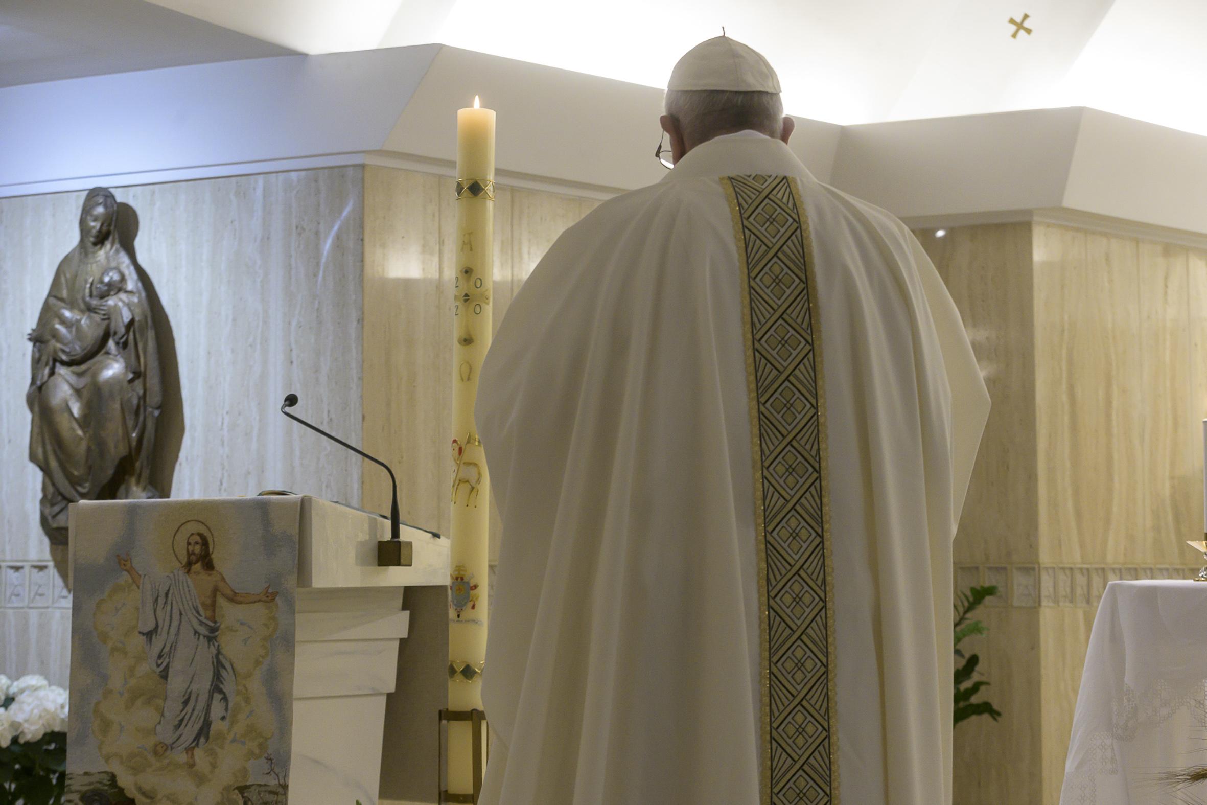 Messe à Sainte-Marthe, 16 avril 2020 © Vatican Media