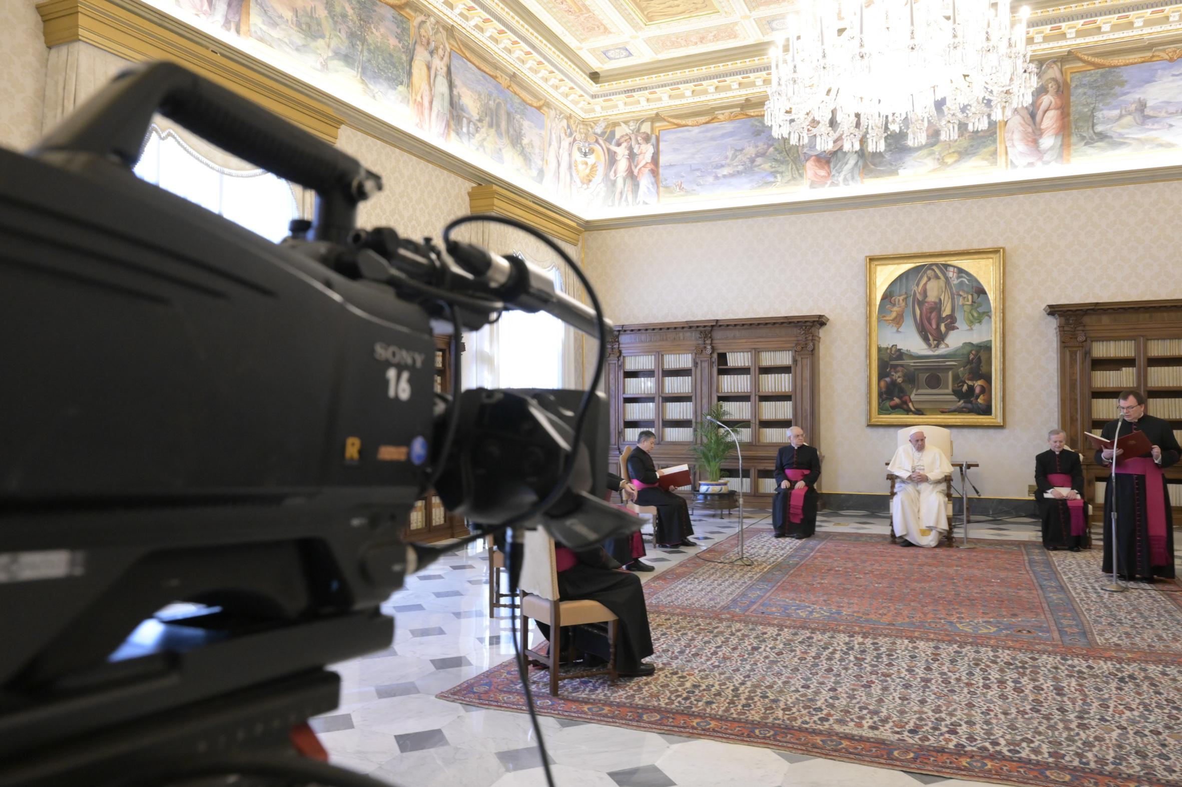 Audience générale du Mercredi Saint, 8 avril 2020 © Vatican Media