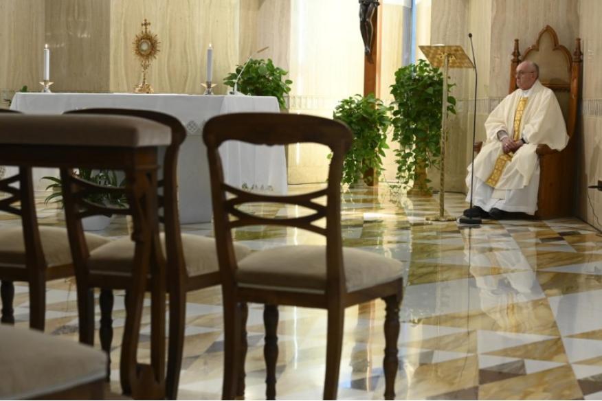Messe à Sainte-Marthe, 17 avril 2020 © Vatican Media