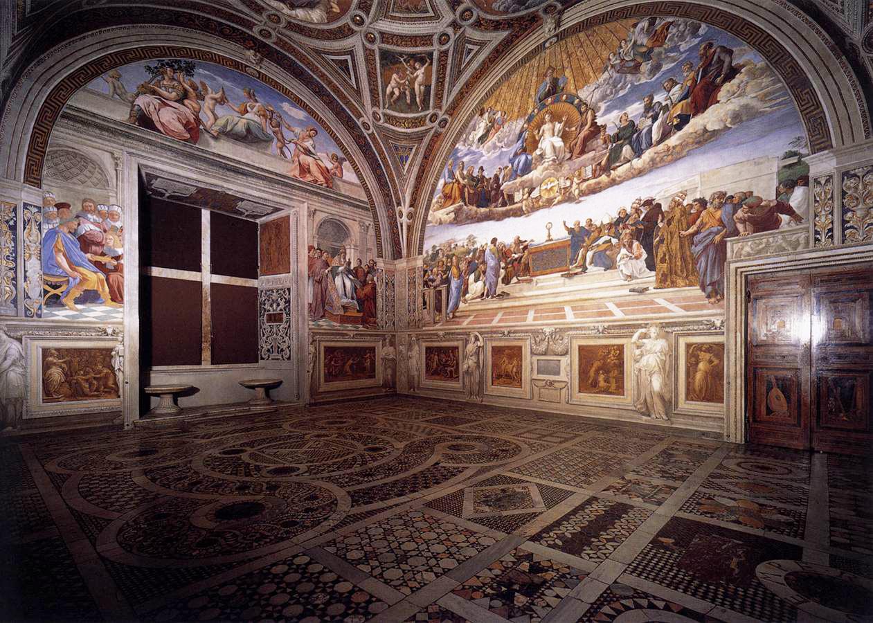 Chambres de Raphaël, Vatican @ wikimedia commons / 0ro1