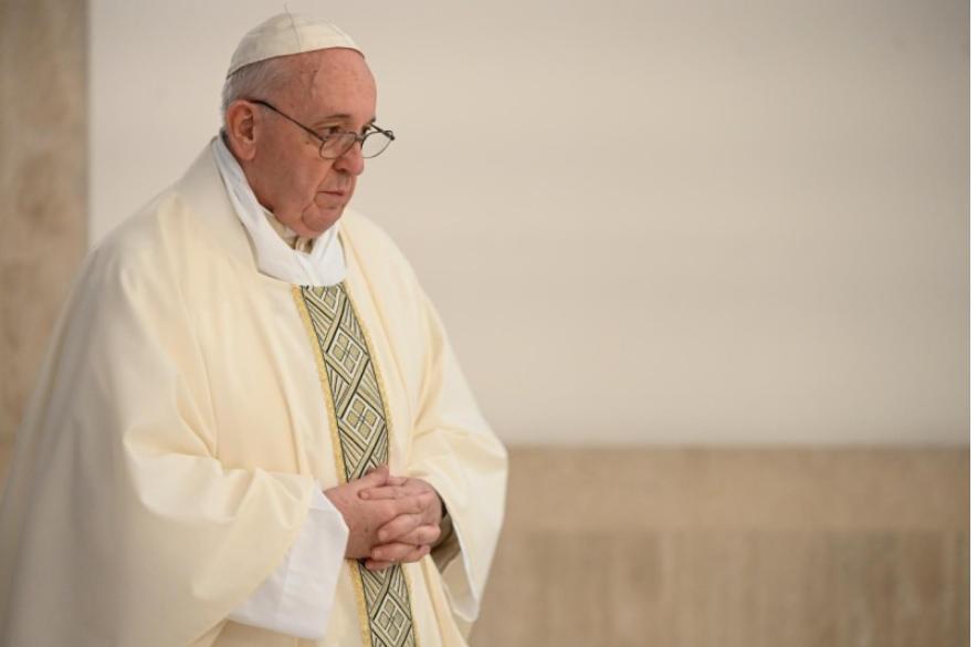 Sainte-Marthe, messe du 15 avril 2020 © Vatican Media