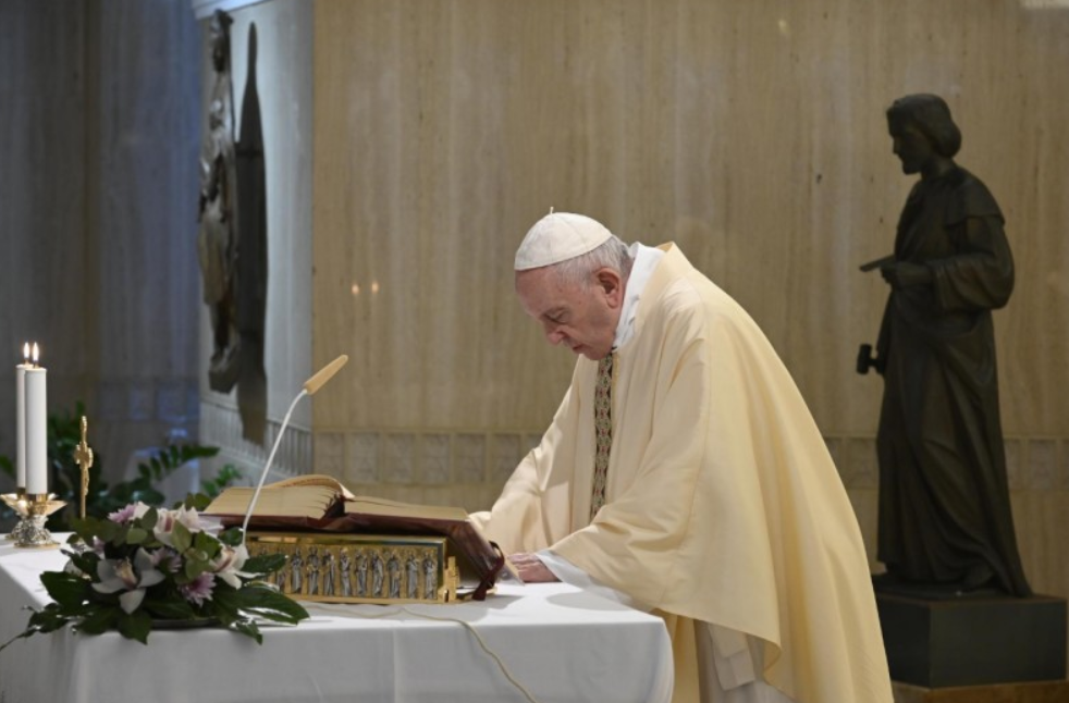 Messe du 3 mai 2020 Ste Marthe © Vatican Media