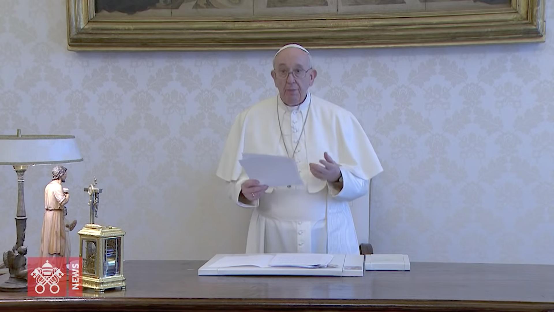 """""""Thy Kingdom Come"""", message vidéo pour la Pentecôte, capture"""