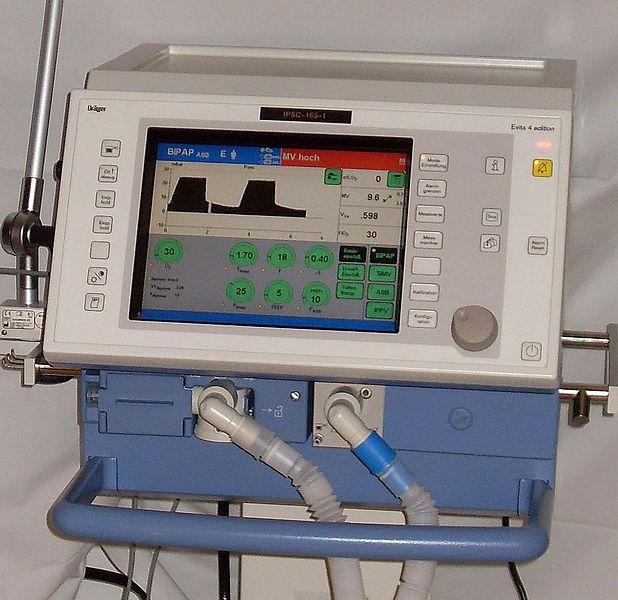 Respirateur Evita 4-ICU (image d'illustration) @ wikimedia commons / Blogotron
