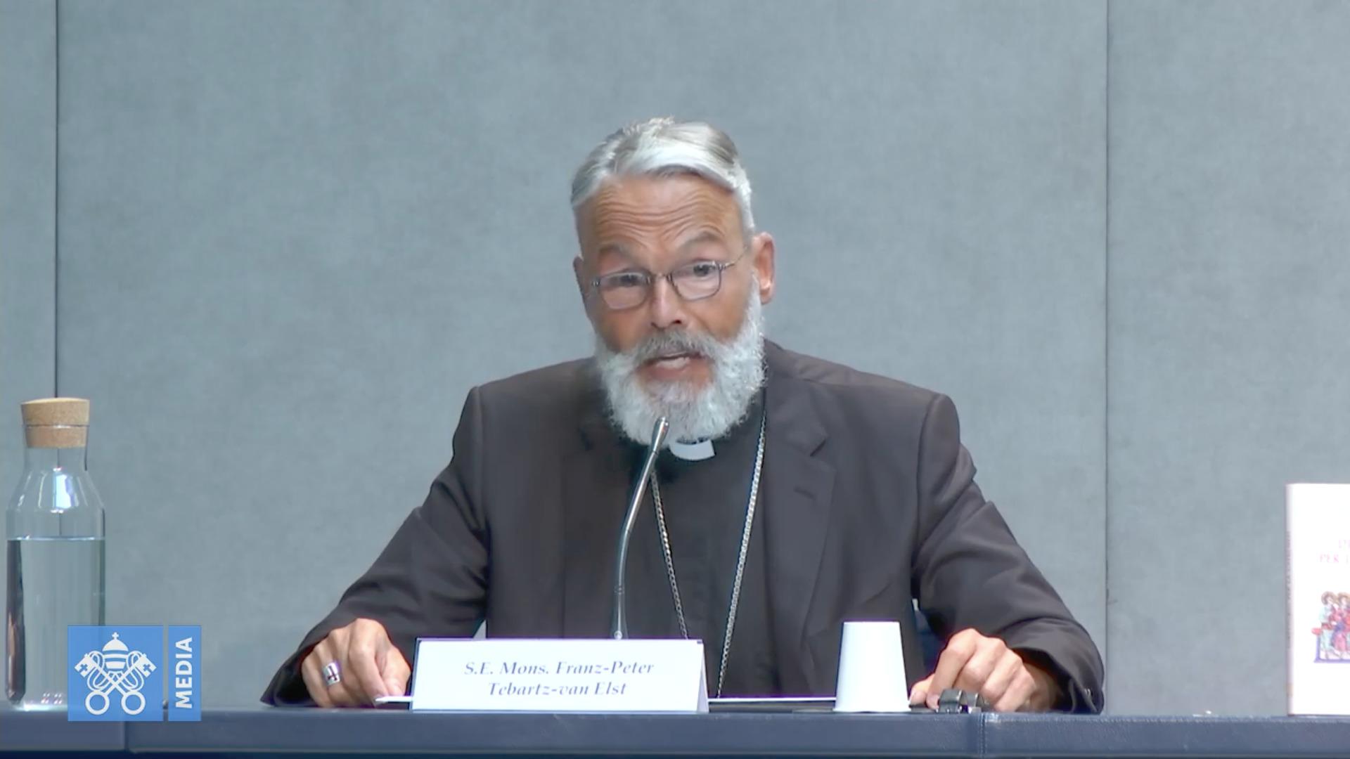 Mgr Franz-Peter Tebartz-van Elst, 25 juin 2020, capture @ Vatican Media