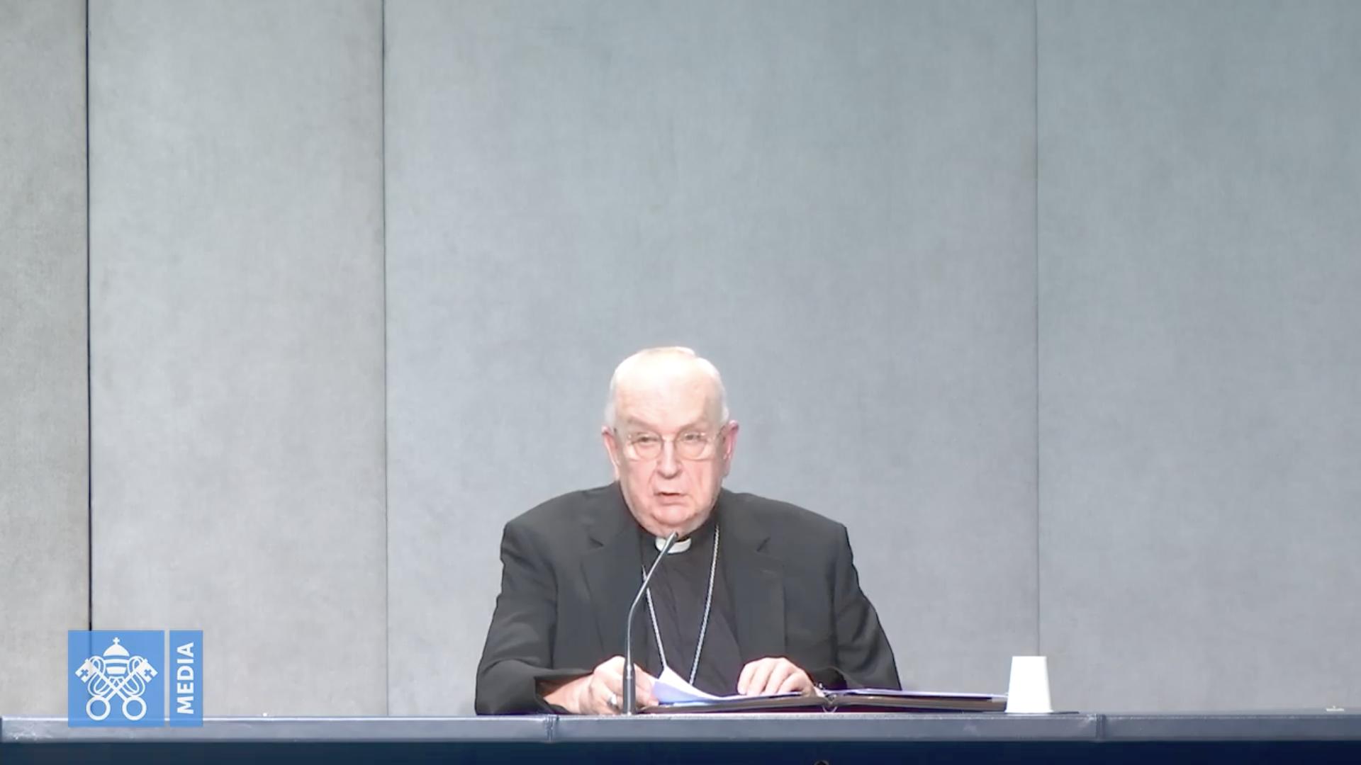 Mgr Fernando Vérgez Alzaga, capture @ Vatican Media