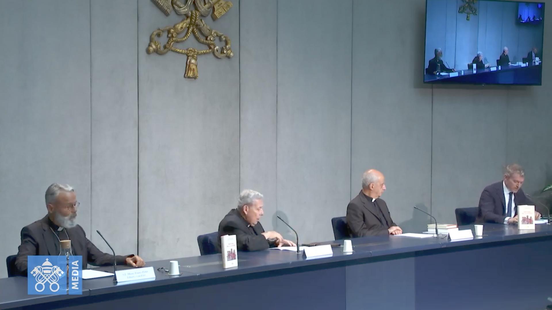 Directoire pour la catéchèse, présentation, 25 juin 2020, capture @ Vatican Media