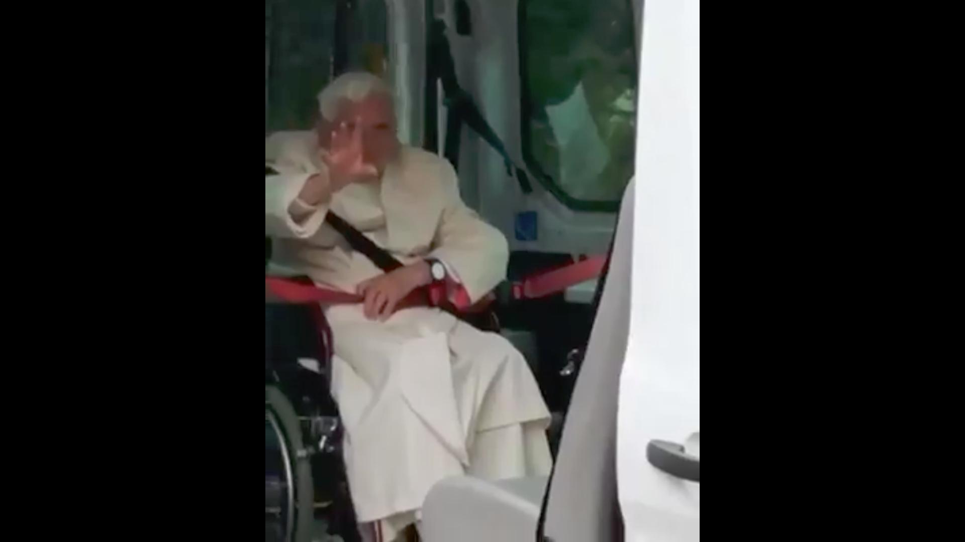 Le pape émérite Benoît XVI à Ratisbonne, le 20 juin 2020, capture de facebook / Papa Francisco - Amigos e Amigas