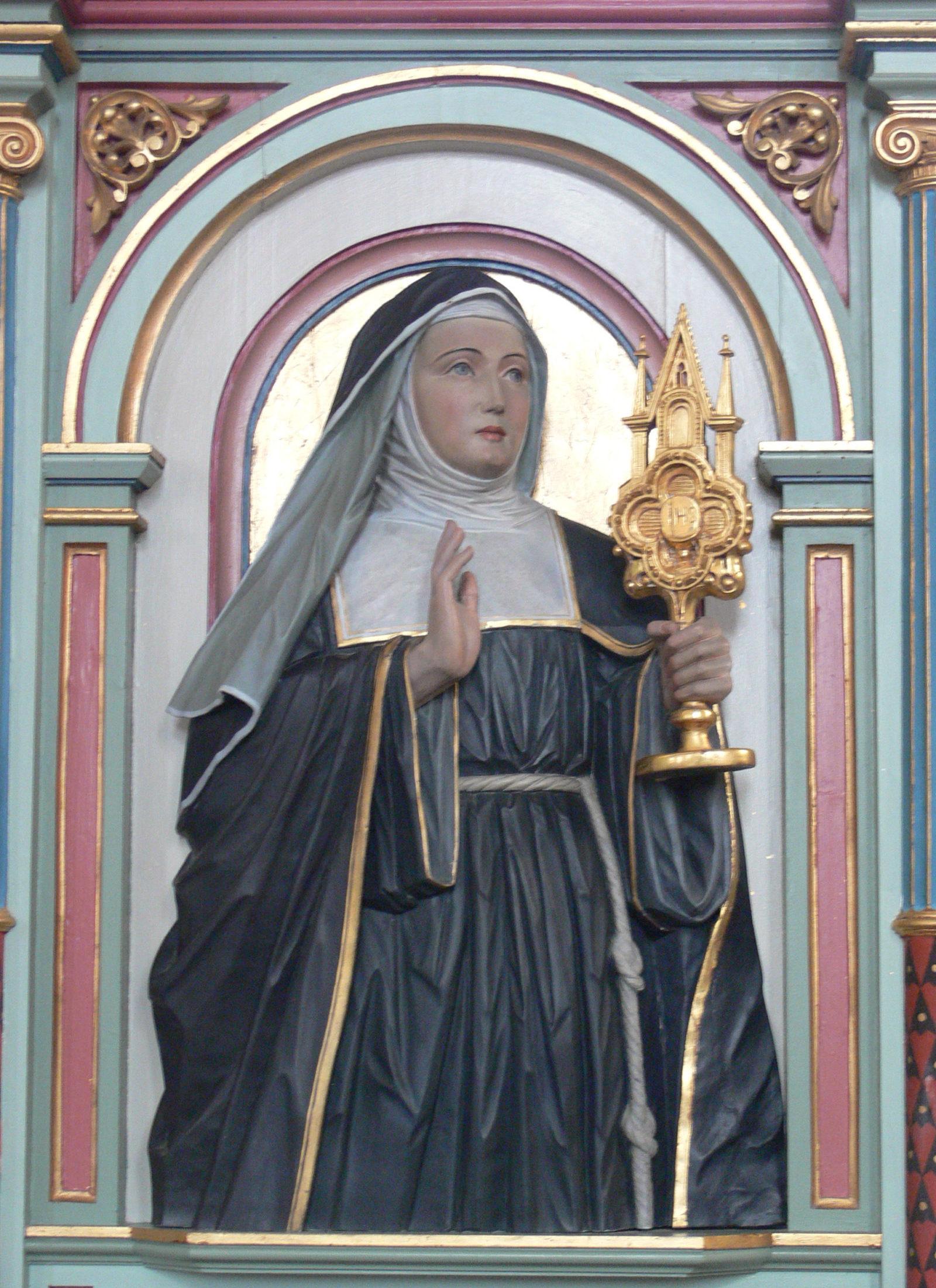 Sainte Julienne de Liège, dans l'église de Merazhofen (Allemagne) © wikimedia commons / Andreas Praefcke