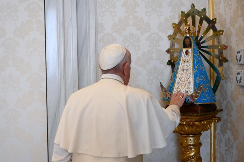 Notre Dame de Lujan (Argentine), audience du 10 juin 2020 © Vatican Media