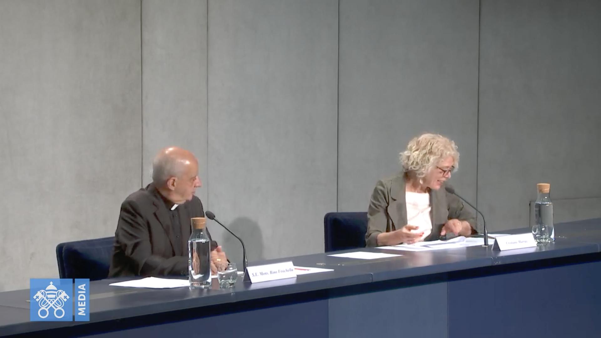 Mgr Fisichella, visioconférence du 13 juin 2020, capture Vatican Media