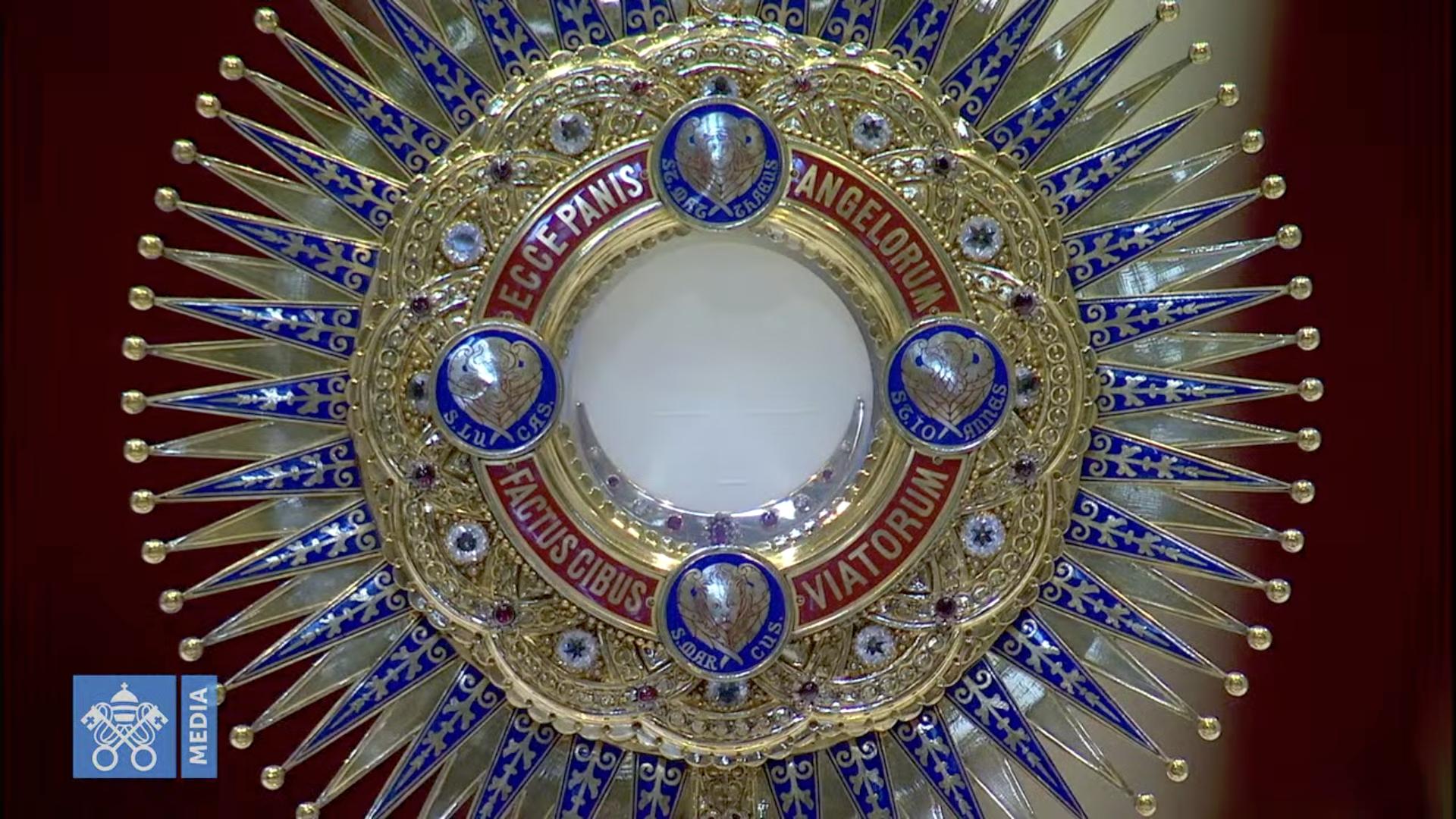 Fête-Dieu 14 juin 2020, capture @ Vatican Media