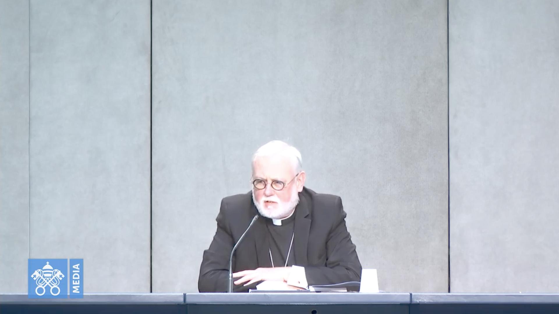 Mgr Richard Gallagher, capture @ Vatican Media
