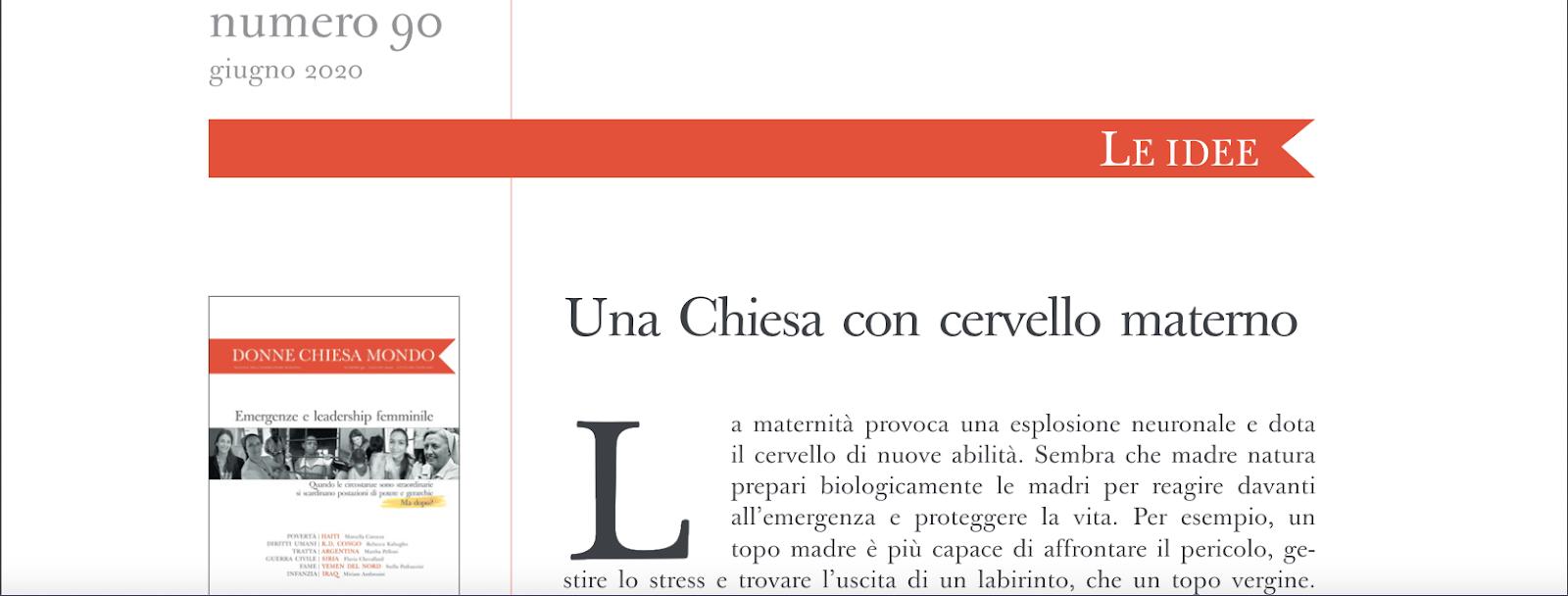 Donne - Chiesa - Mondo @ L'Osservatore Romano, juin 2020