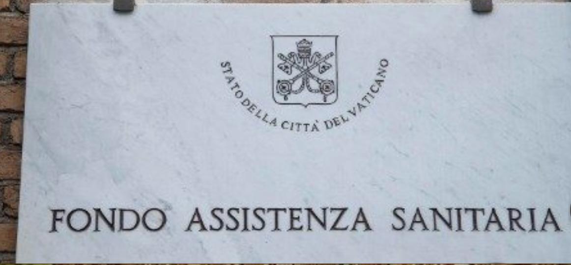 Plaque du Fonds d'assistance de santé du Vatican