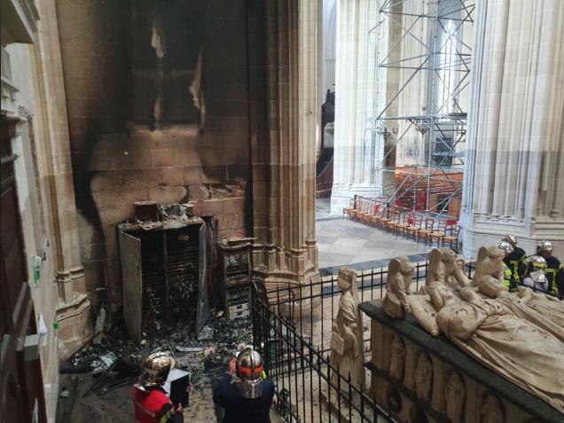Incendie à la cathédrale de Nantes © Diocèse de Nantes diocese44.fr