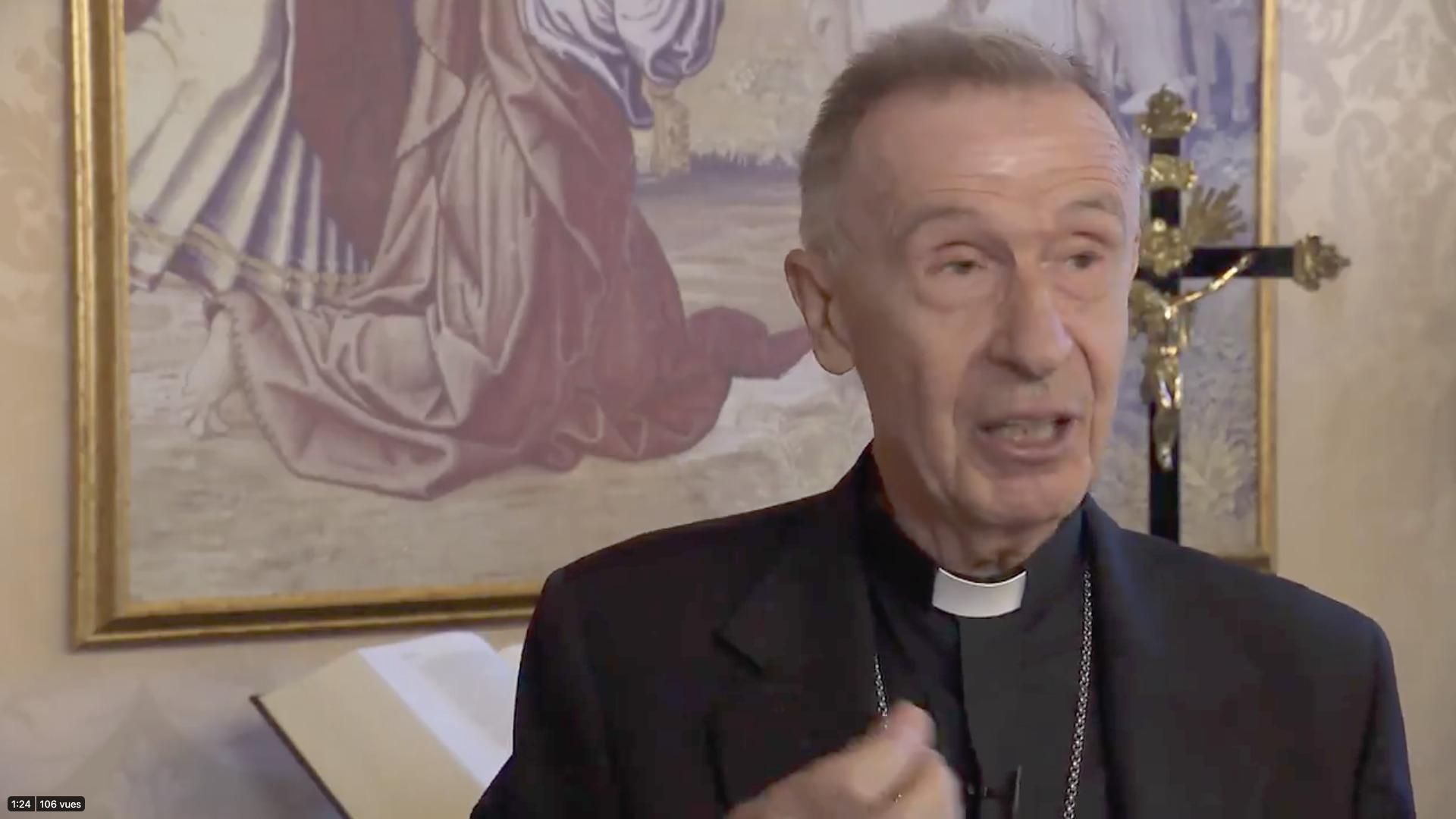 Card. Luis Ladaria Ferrer, capture @ Vatican Media