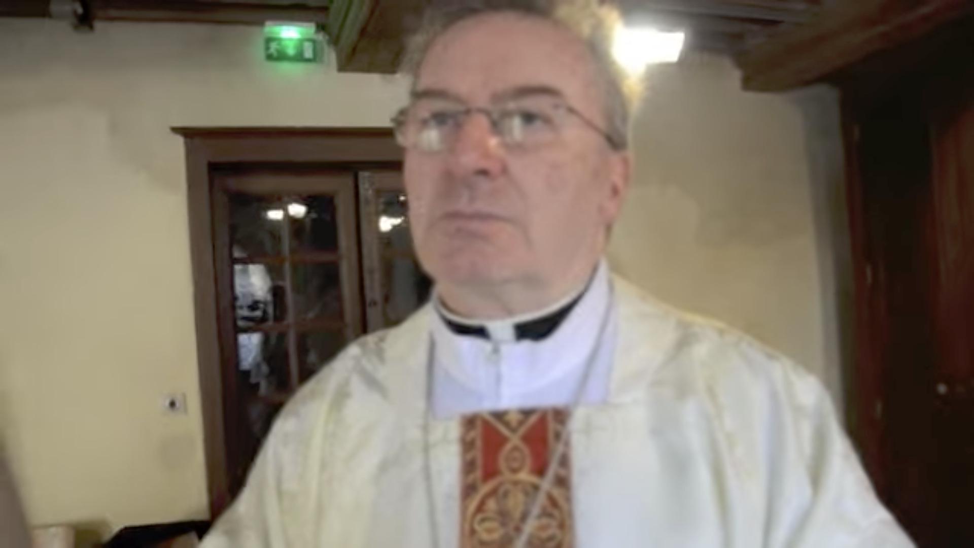 Mgr Luigi Ventura, capture @ YouTube / Lozère-Nouvelle / 48info.fr