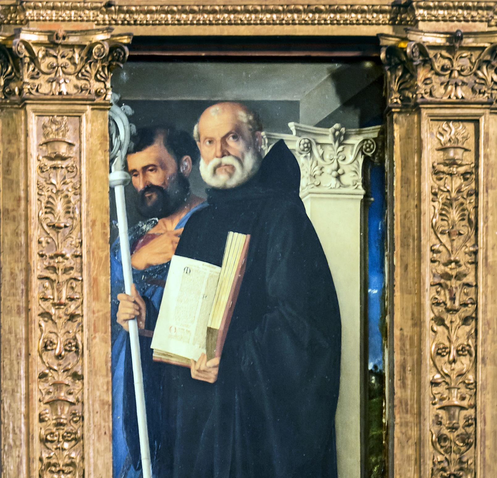 S. Benoît par Giovanni Bellini (Venise) @ wikimedia commons / Didier Descouens
