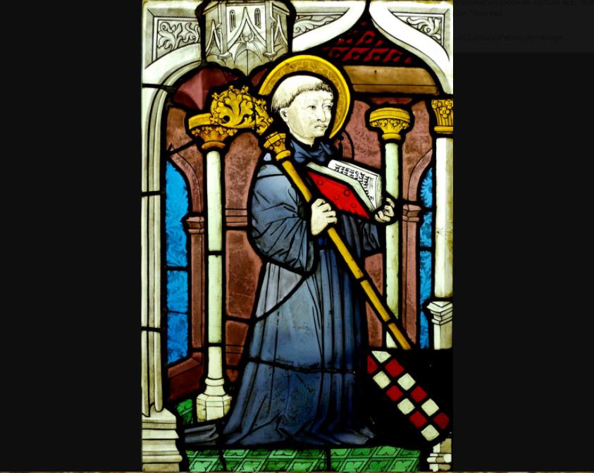 Vitrail Saint Bernard. Musée de Cluny – Musée national du Moyen Âge © Wikimedia commons