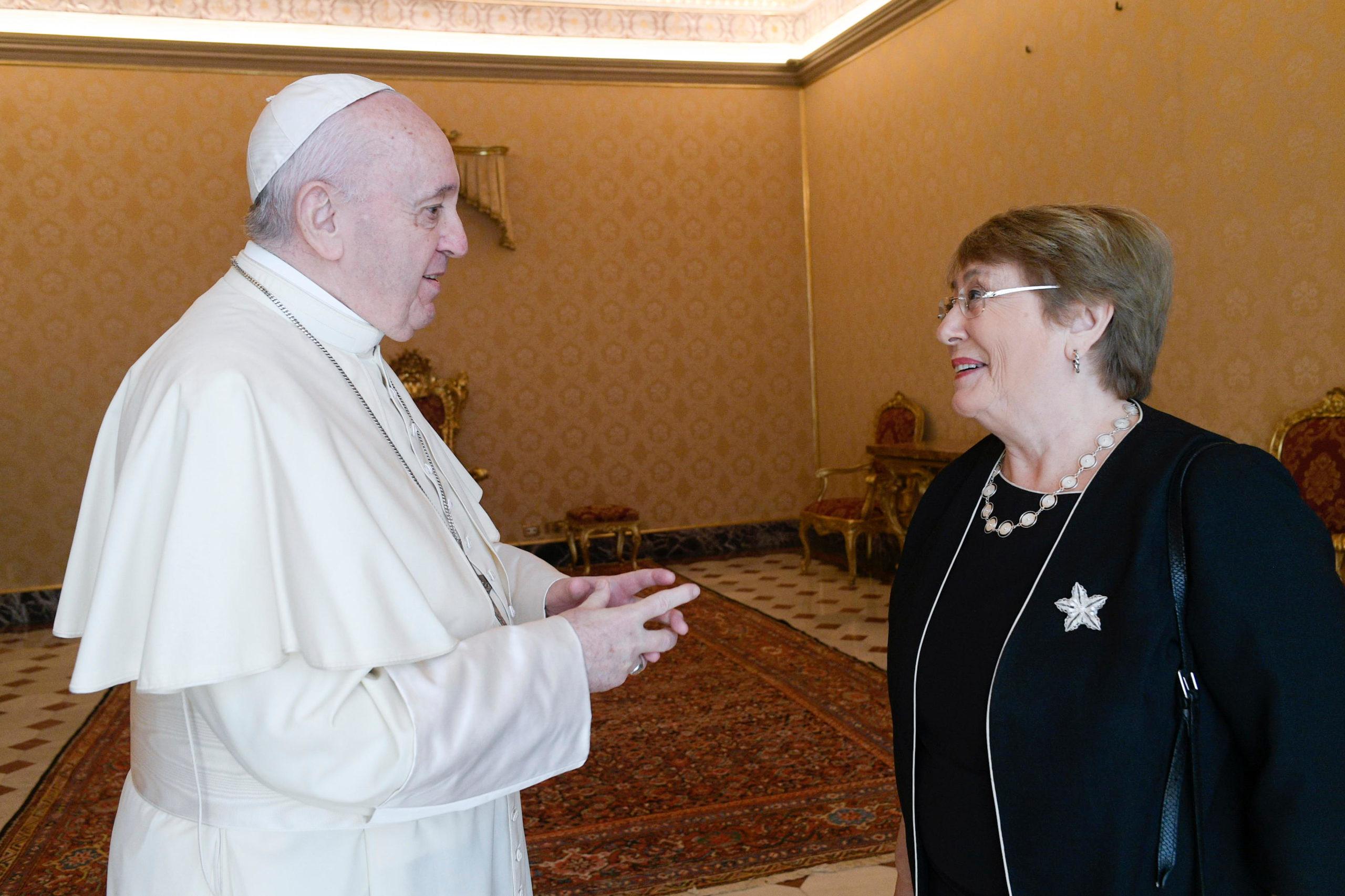 Michelle Bachelet, Haut-Commissaire de l'ONU aux droits de l'homme © Vatican Media