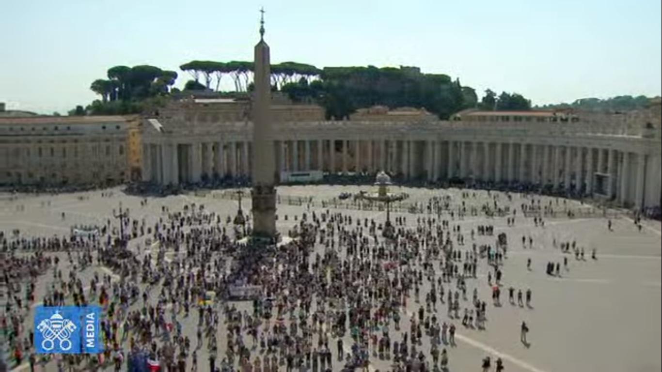 Pl. St-Pierre, Angélus du 13 sept. 2020, capture @ Vatican Media