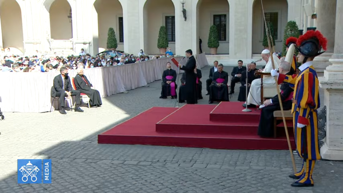 Catéchèse en arabe, capture @ Vatican Media