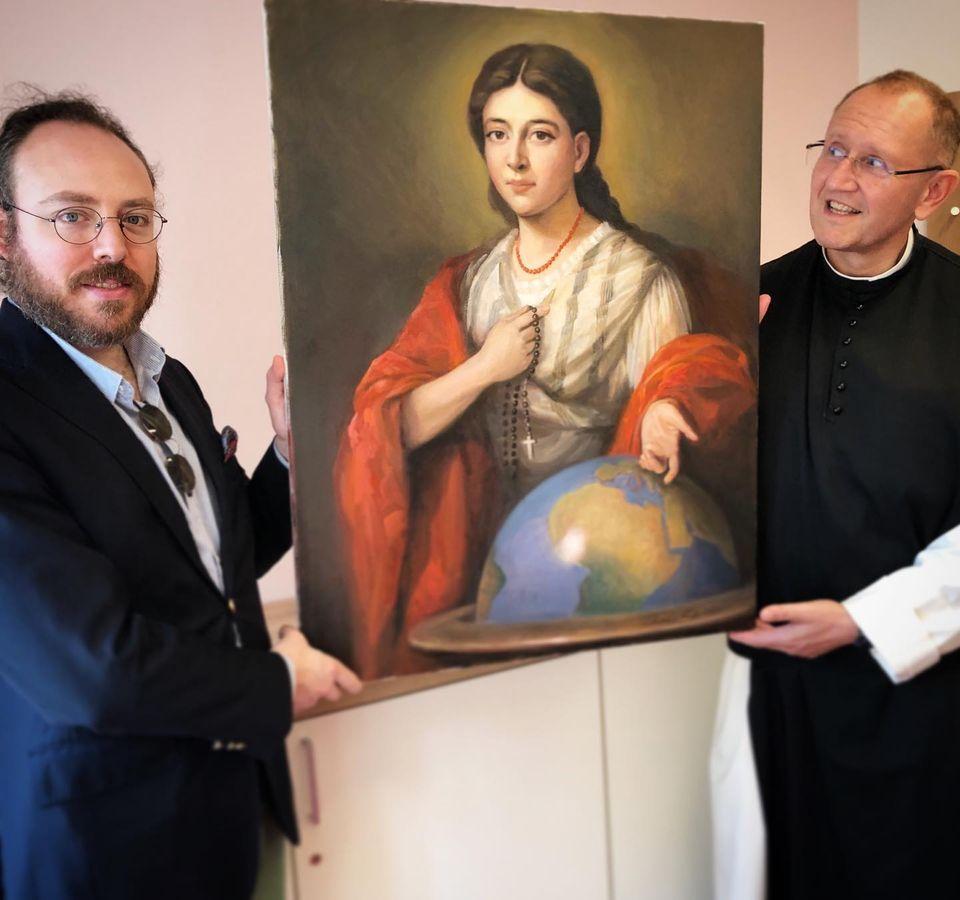 """Pauline Jaricot """"Mère de la mission mondiale"""", par le peintre Clemens Maria Fuchs @ Facebook de Missio Österreich"""