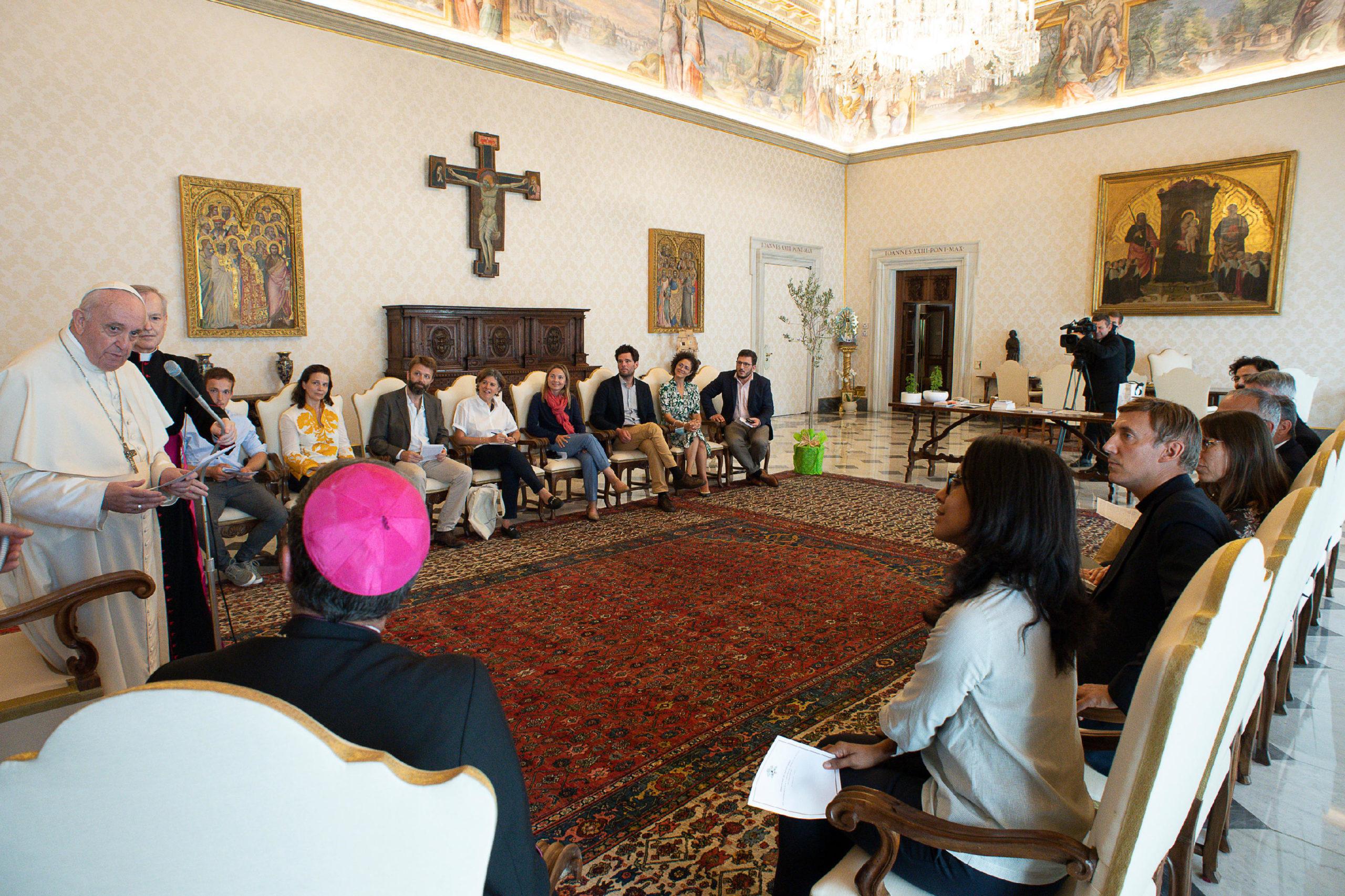 Groupe de français venus parler écologie, 3 septembre 2020© Vatican Media