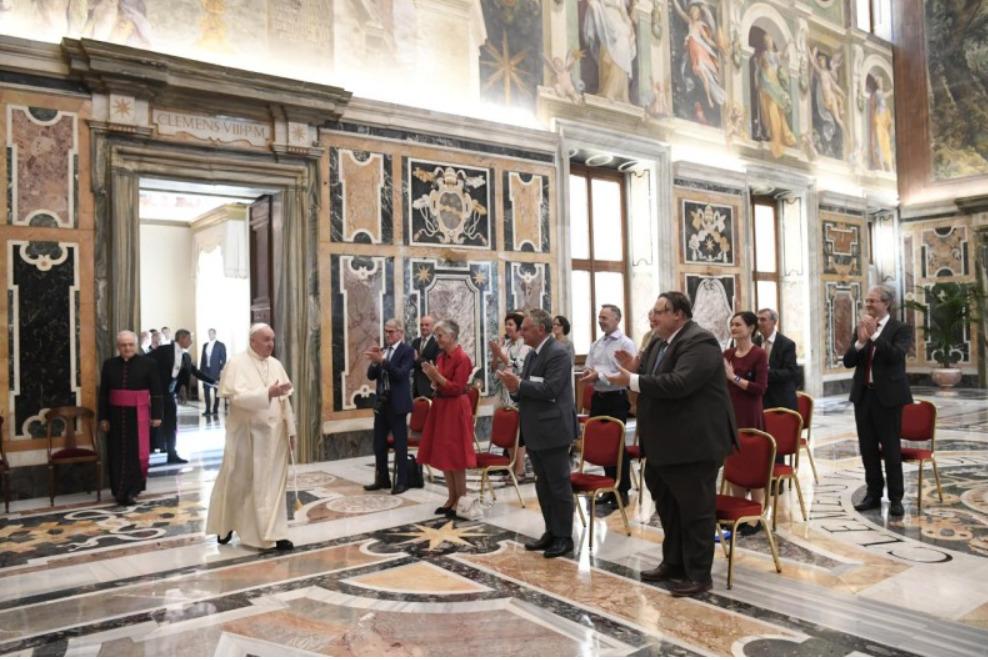 Audience à l'hebdomadaire belge Tertio © Vatican Media