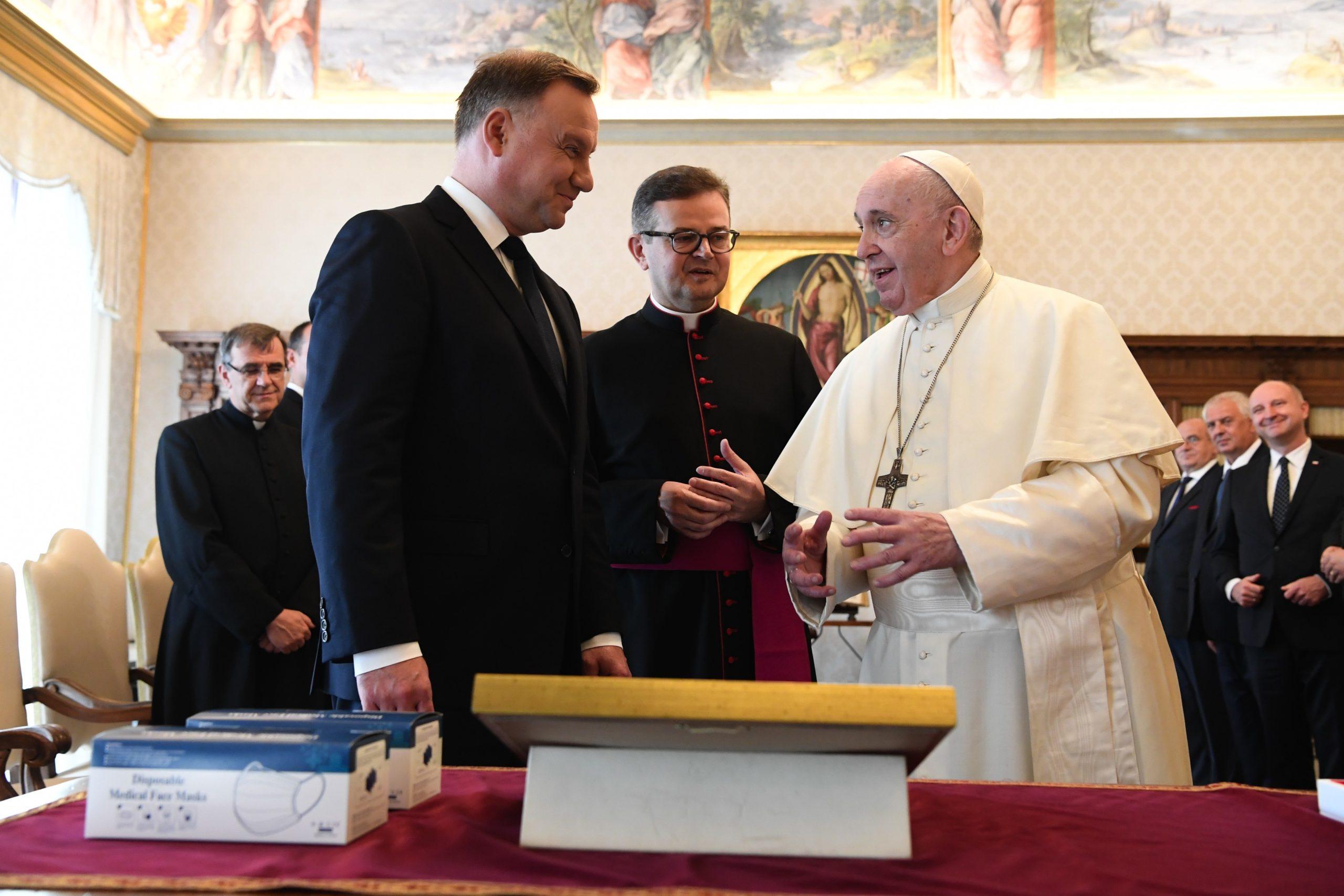 Rencontre avec le président polonais Andrzej Duda © Vatican Media