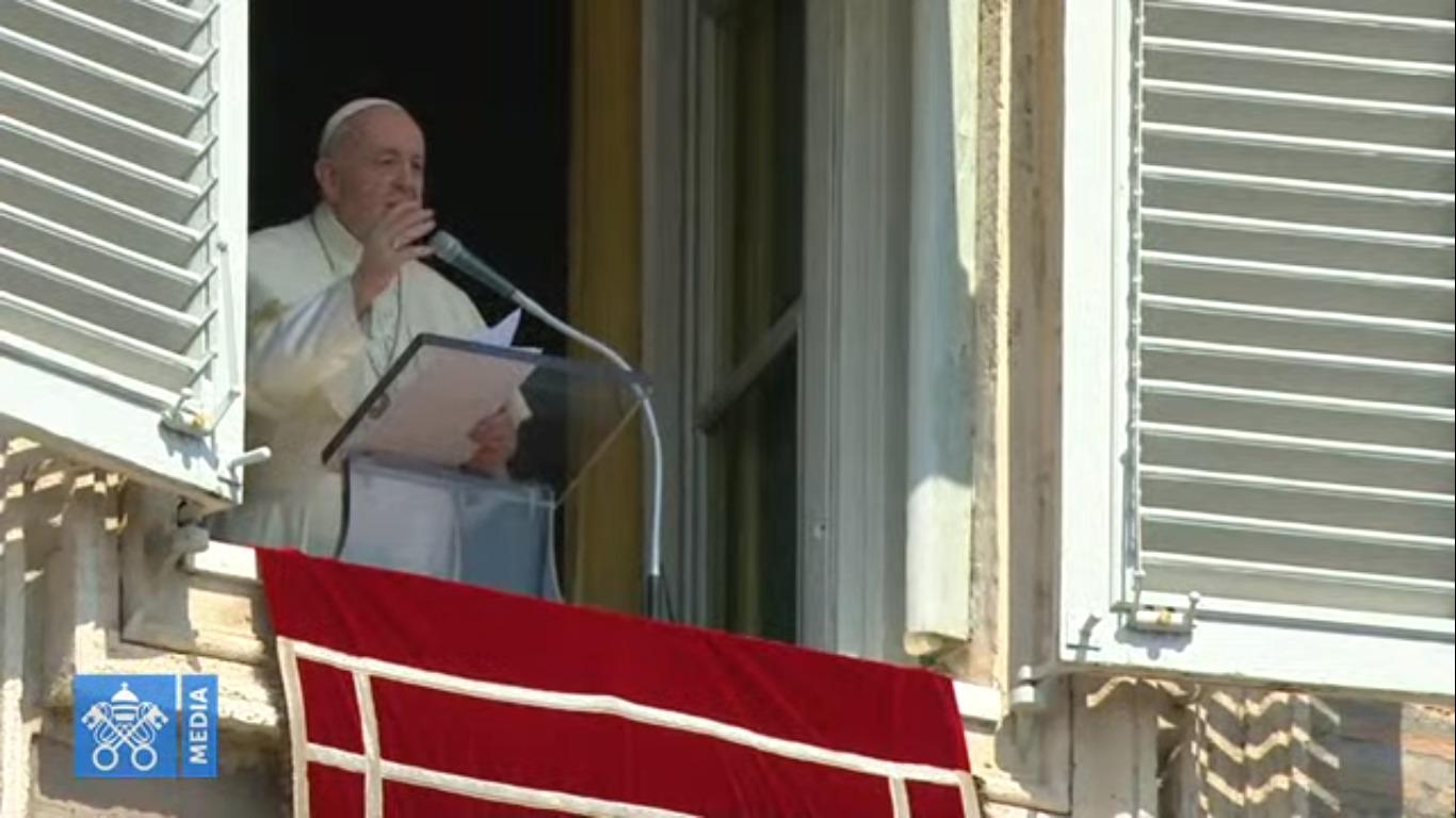 Angélus du 13 sept. 2020, capture @ Vatican Media