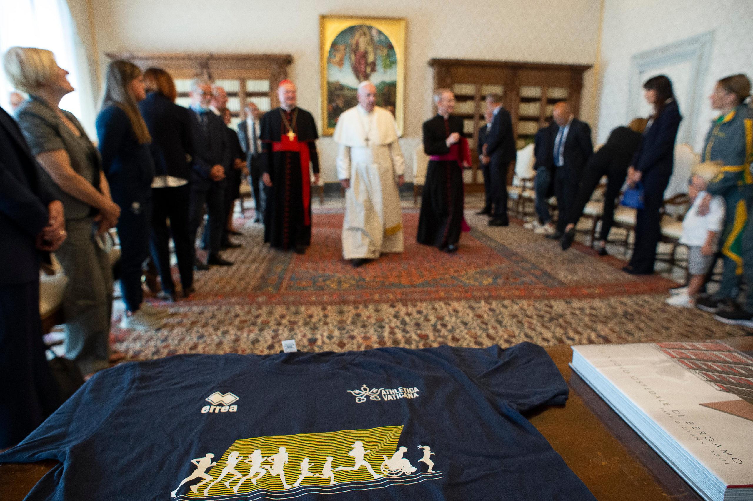 Initiative du sport We Run Together, 5 septembre 2020 © Vatican Media