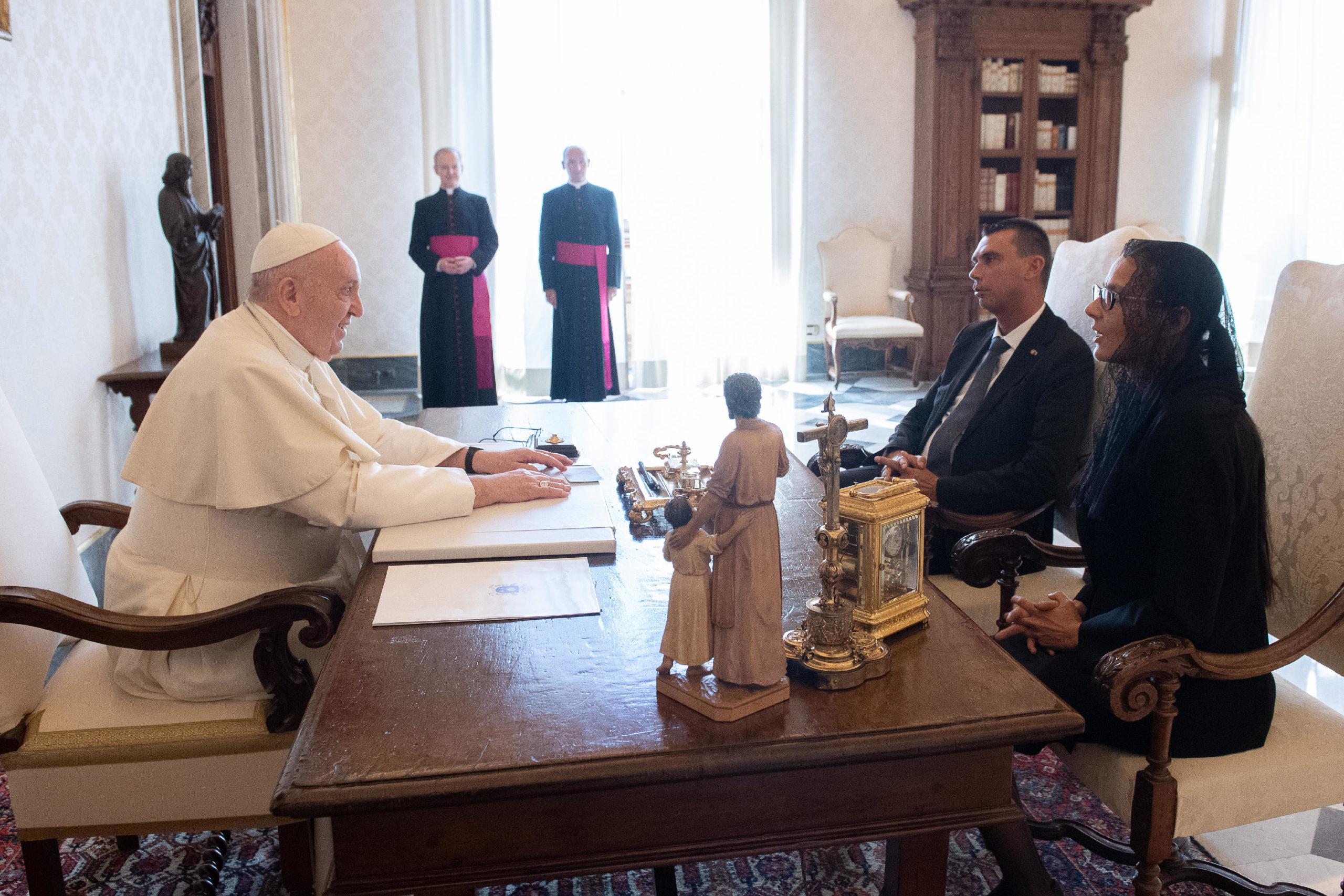 Capitaines-régents de Saint-Marin, 5 septembre 2020 © Vatican Media