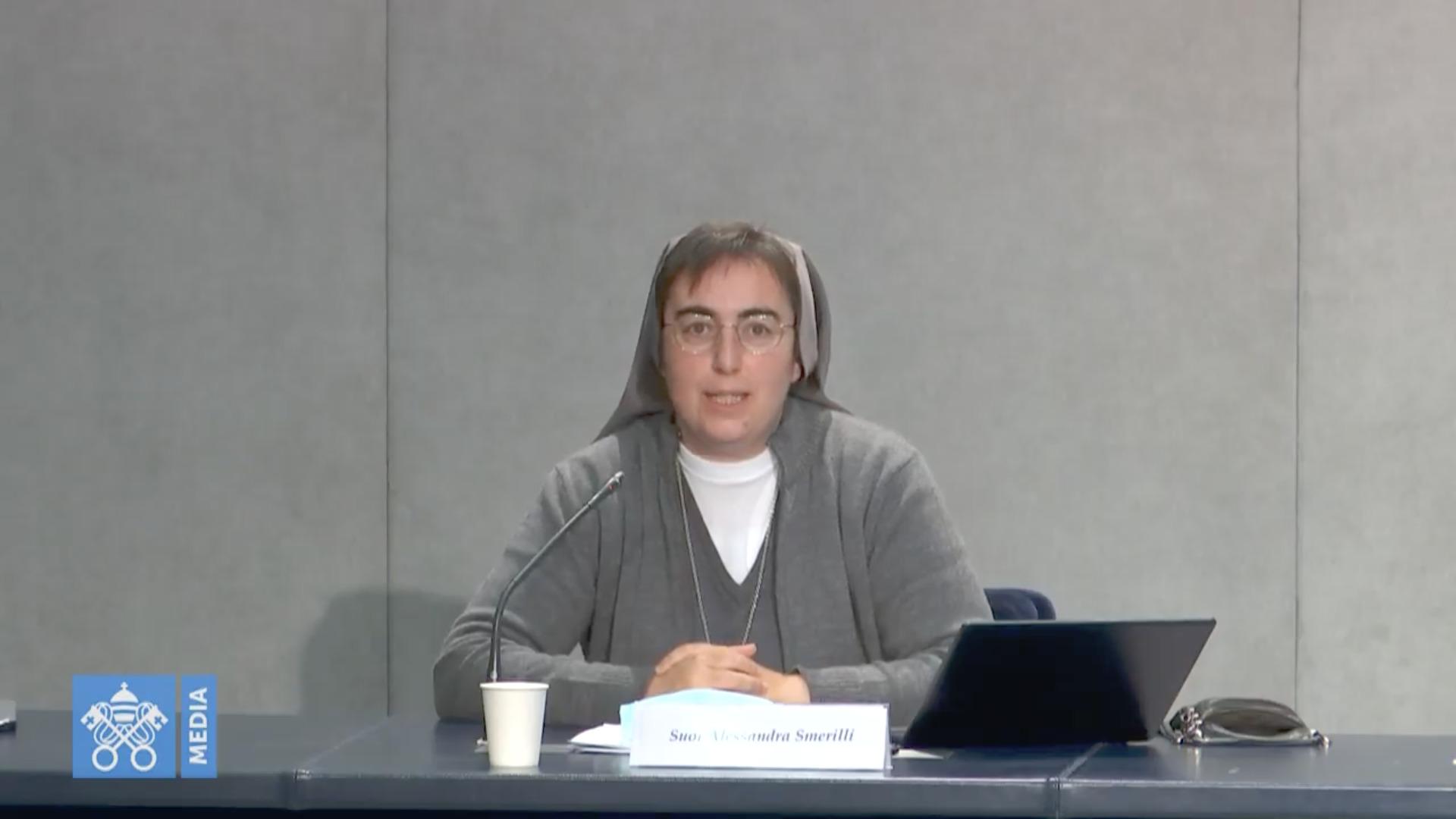 Sr Alessandra Smerilli, capture @ Vatican Media