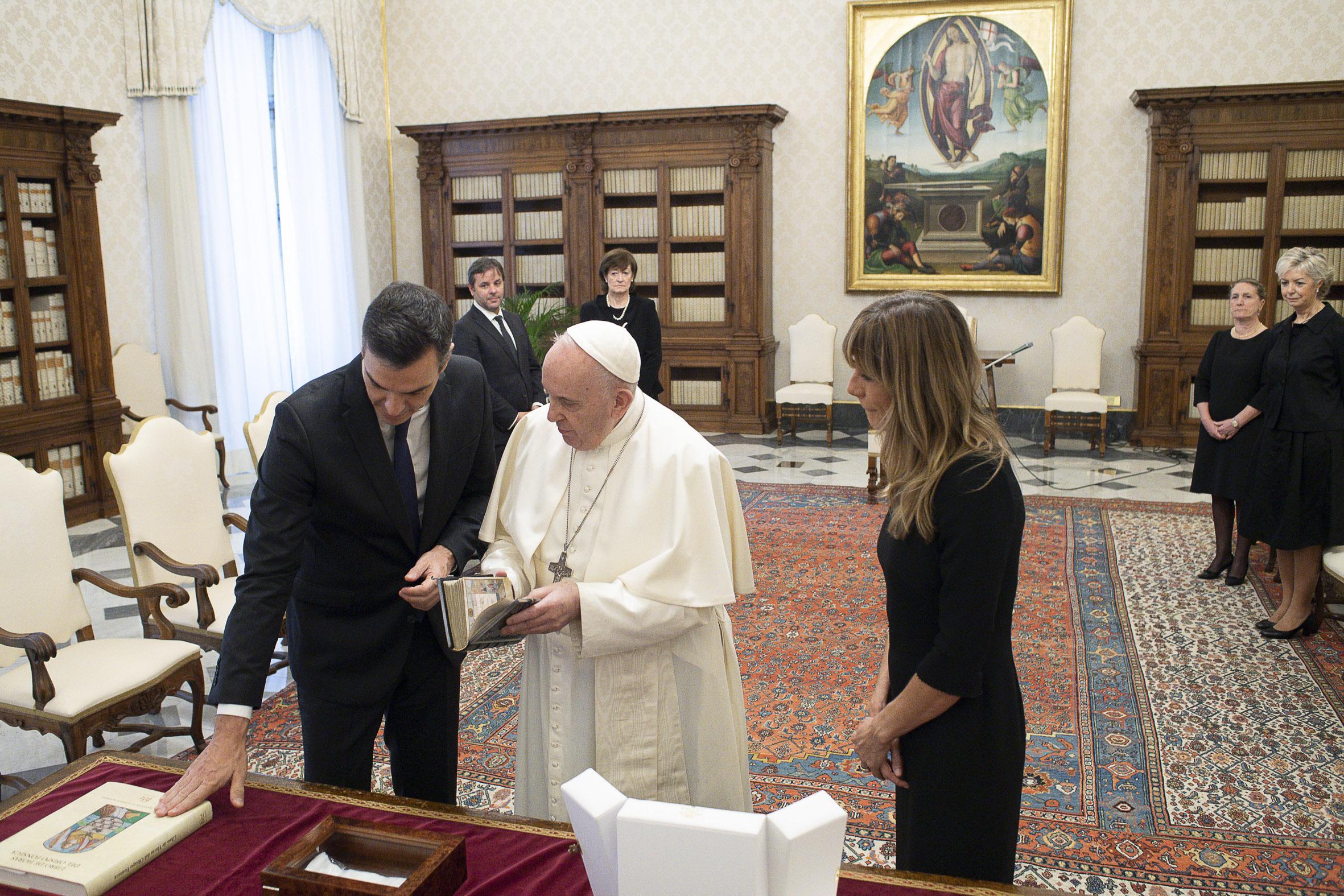 Pedro Sánchez Pérez-Castejón, président de l'Espagne © Vatican Media