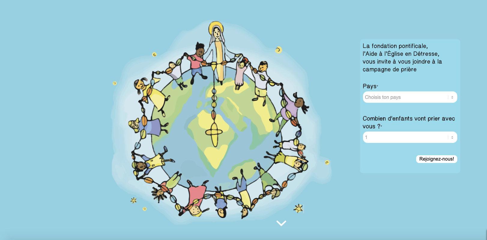 Capture AED, un million d'enfants prient le rosaire