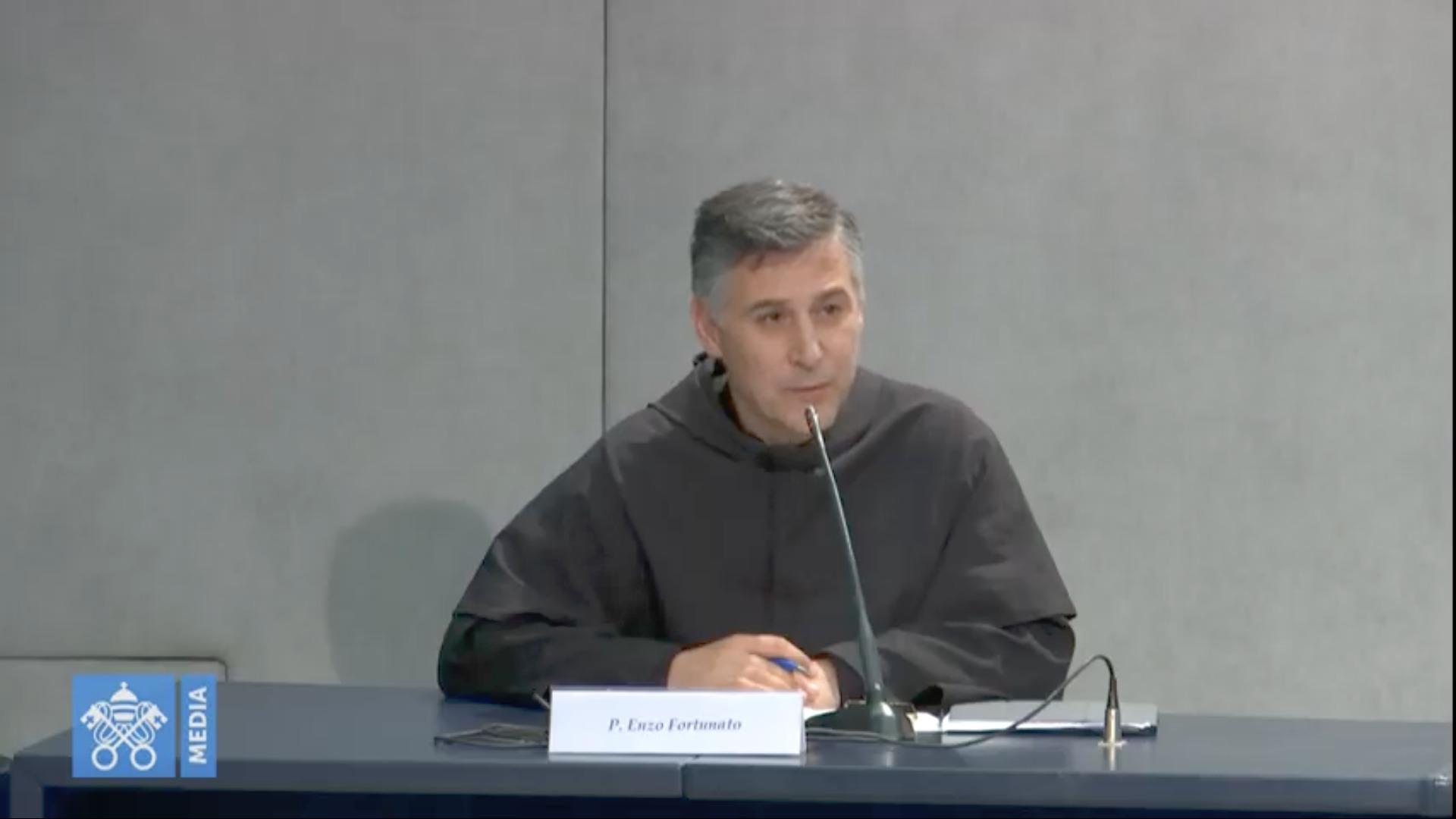 P. Enzo Fortunato, capture @ Vatican Media