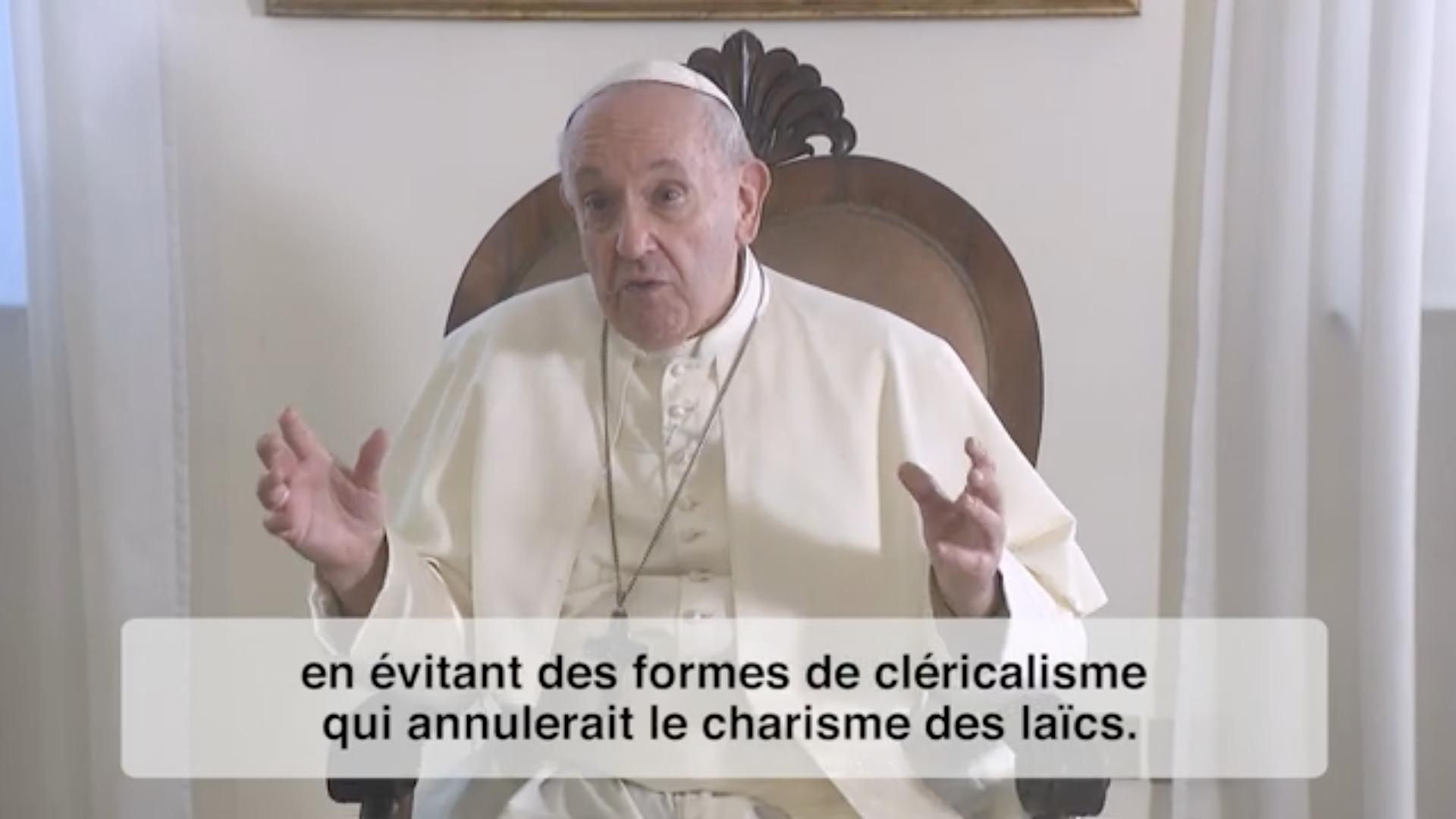 La vidéo du pape, octobre 2020, capture @ RMPP