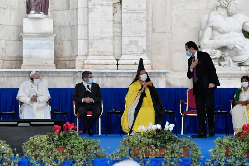 Rencontre interreligieuse pour la paix au Capitole 20 octobre 2020 © Vatican Media