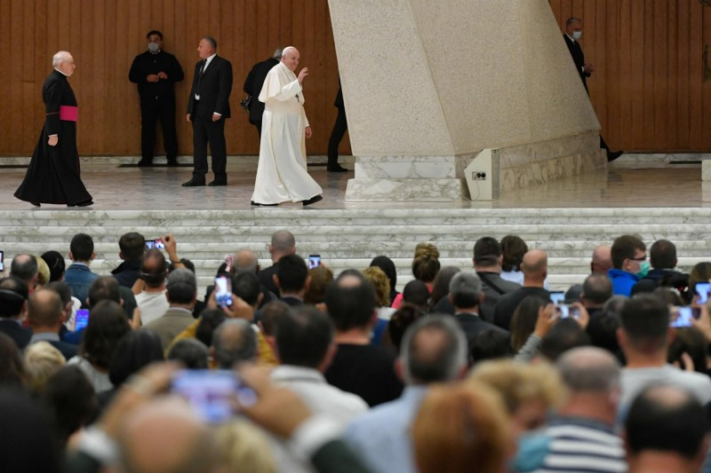 Audience générale du 14 octobre 2020 © Vatican Media