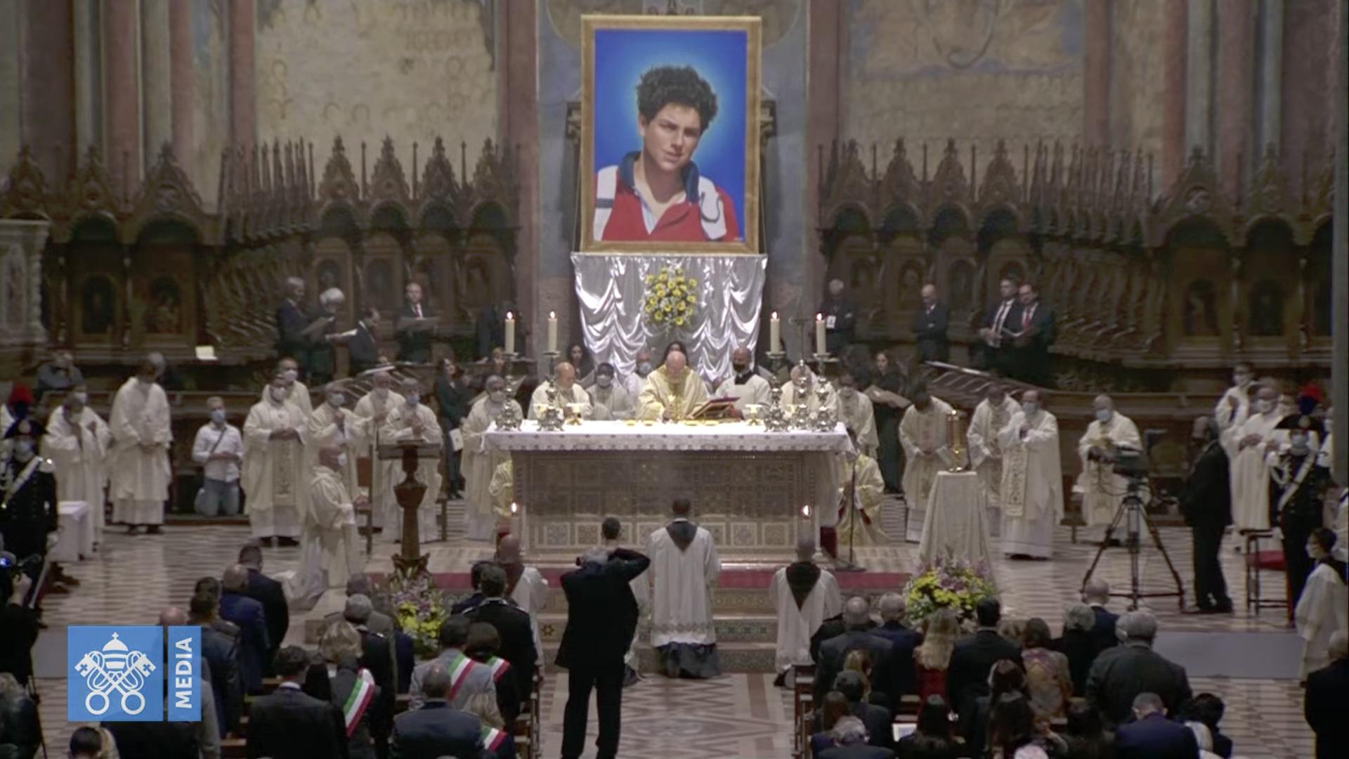 Béatification de Carlo Acutis, capture @ Vatican Media