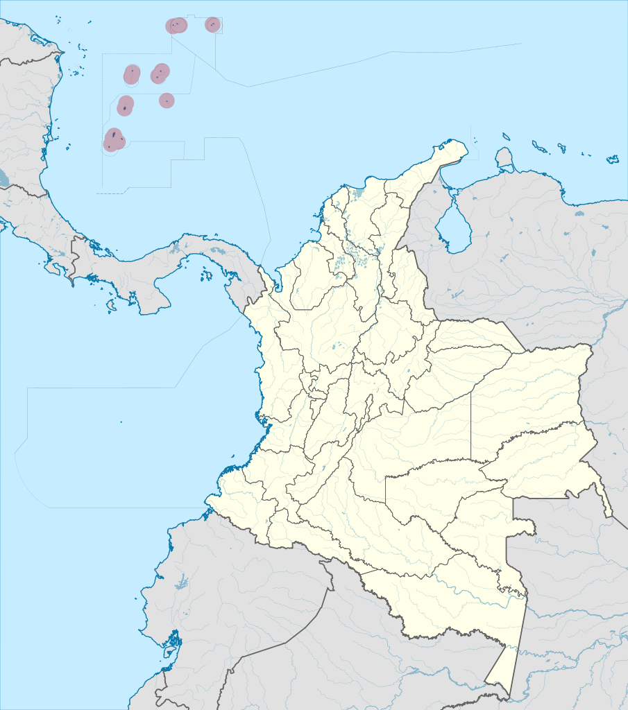 Carte des îles de San Andres et Providencia (Colombie)@ wikimedia commons/ TUBS