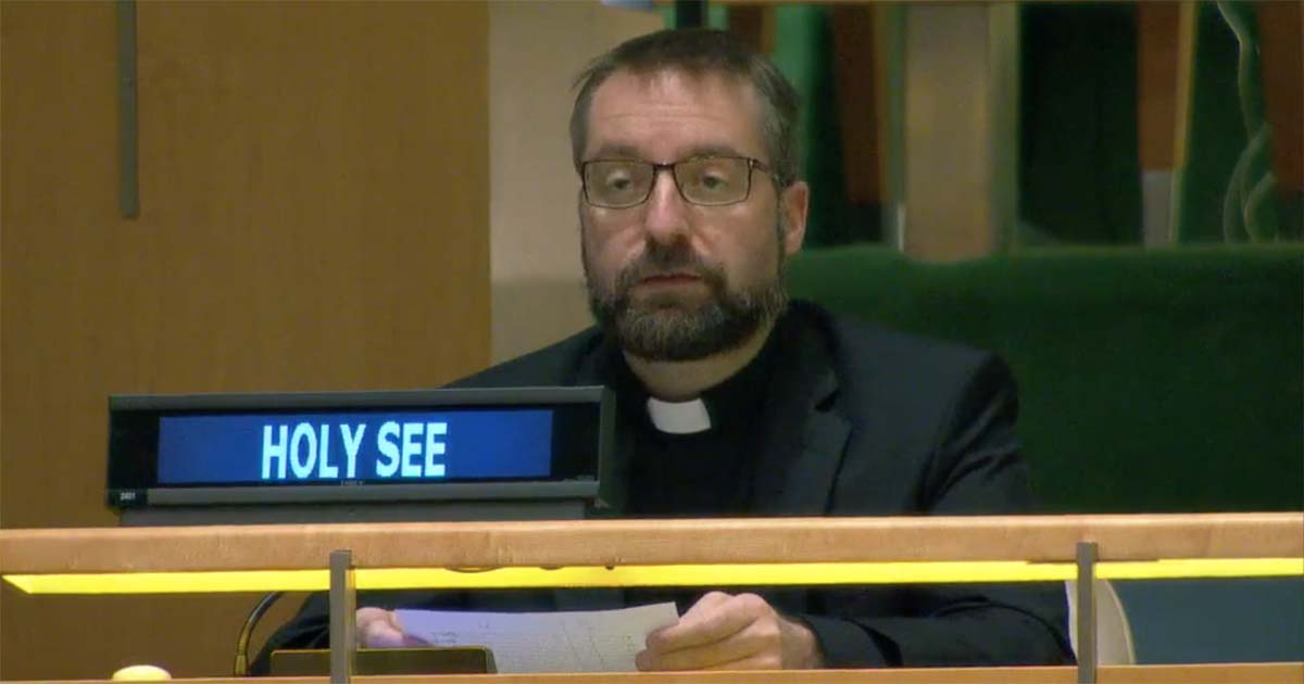 Mgr Fredrik Hansen @ Holy See Mission