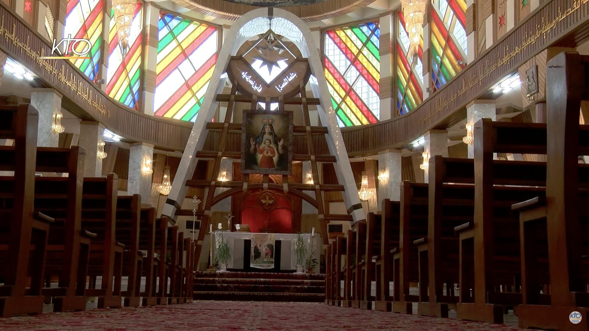 Notre-Dame du perpétuel Secours (Sayidat al Najatte, Bagdad, Irak), capture @ KTO
