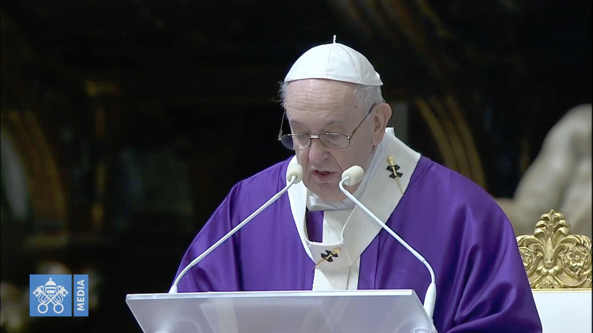 Messe du 29 nov. 2020, capture @ Vatican Media