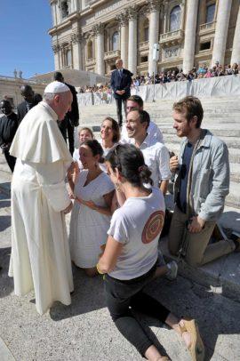 Anuncio rencontre le pape François à l'audience du 23 sept. 2019 @anuncio.fr
