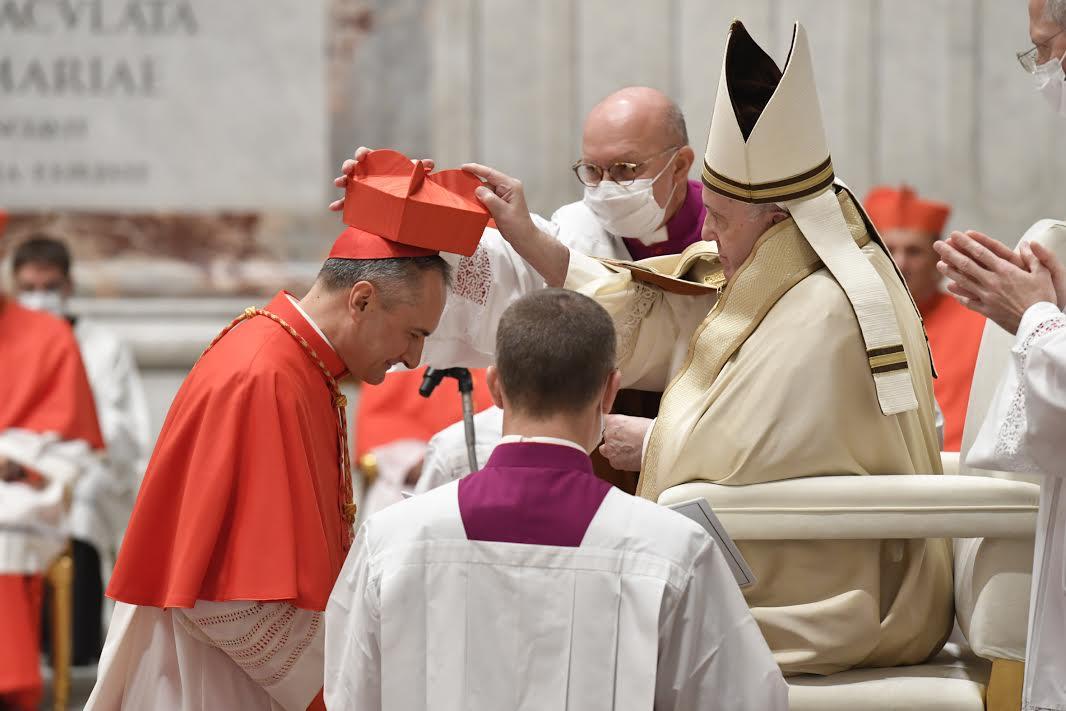 Card. Gambetti, Consistoire © Vatican Media
